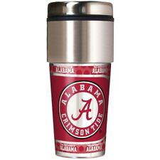 NCAA 16 oz Travel Tumbler with Metallic Wrap