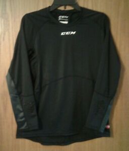 Men's Boy's CCM ExDry Pro Stock dri-fit LS base layer hockey shirt size M - NEW