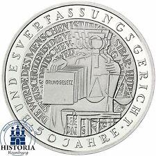 BRD 10 DM Bundesverfassungsgericht BVG  2001 Silber Stempelglanz in Münzkapsel