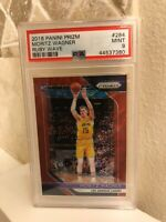 2018-19 Panini Prizm Ruby Red Wave #284 Moritz Wagner RC SP Rookie PSA 9 MINT