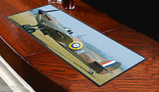 Spitfire Design 2 Bar Towel Runner Pub Mat Beer Cocktail Party Gift Aeroplane