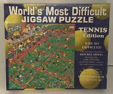 NEW Worlds Most Difficult 529 piece Jigsaw Double Sided Tennis Edition Puzzle!
