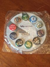 SYFY Channel San Diego Comic Con 10 Pin Promo Set New in Package