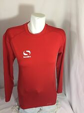 Sondico Boys Athletic Long Sleeve  Red Shirt Size M Solid Color Bin59#33