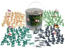 200 Pc WWII Military Action Figures Army Men Plastic Toy Soldier Play Set w/Box