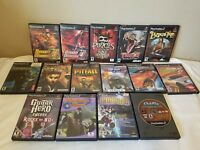 Lot Of 15 Playstation 2 Games Dynasty Warriors, Pitfall, Bard's Tale, Terminator