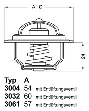 Thermostat Kühlmittel - Wahler 3004.88D1
