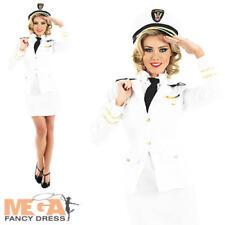 Naval Officer Ladies Sailor Captain Fancy Dress Military 40s 30s Uniform Costume