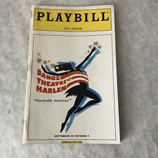 Playbill Dance Theatre of Harlem Sept 2001 City Center Arthur Mitchell