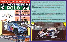 ANEXO DECAL 1/43 VOLKSWAGEN POLO R WRC A.MIKKELSEN R.AUSTRALIA 2014 3rd (12)