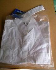 """ELT Show Blouse """"Nicole"""" Size 38 White Collarless Shirt"""