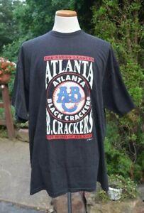 ATLANTA BLACK CRACKERS The Negro Leagues Black w/ Graphics Cotton T-SHIRT Sz:3XL