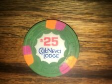 Cal Neva Lodge $25.00 Casino Chip Lake Tahoe Nevada