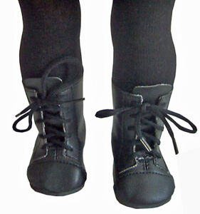 """For 18"""" American Girl Black 1800 Boots & Tights Samantha Doll Clothes Accessory"""
