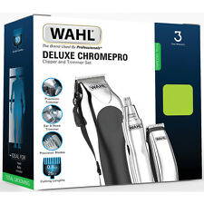 Wahl 79524-810 Deluxe ChromePro Complete Haircutting Kit - New