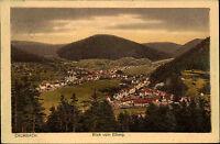 Calmbach im Schwarzwald Color AK 1920 gelaufen Blick vom Ellberg Gesamtansicht