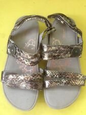 Aetrex Sandal- Women's Size 6 bronze metallic (Repair)