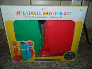 INFLATABLE BOWLING SET 7-piece OUTDOOR PLAY Suitable New In Box