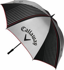 "Callaway 2017 UV Single Canopy Umbrella (Grey/Black, 64"" Coverage) Golf NEW"