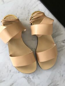 witchery : carrie nude ankle wrap sandals size: 38 new $129.95