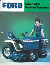 Lawn Tractor Brochure - Ford - LT 80 100 - LGT 100 120 125 145 165 c1977  (LG84)