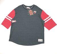 Chicago Bulls Mitchel & Ness NBA Home Stretch Henley T Shirt Mens 5XL
