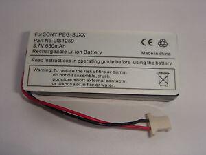 Battery LIS1259 For sony Peg-Sjxx Battery Accumulator New