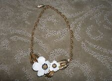 Vintage Signed Louis Feraud Blossoms of Spring Choker Necklace New