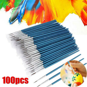 100X Micro Fine Detail Painting Brush Kit Watercolor Drawing Art Nail Model Set