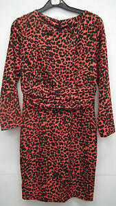 BN Red and Black Leopard Print Dress from TopShop