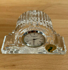 Waterford Crystal Cottage Mantel Clock Small Manufactured Ireland Working Mint