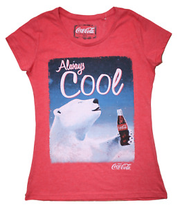 Coca Cola - Polar Bear - Always Cool - Ladies size 10 t shirts