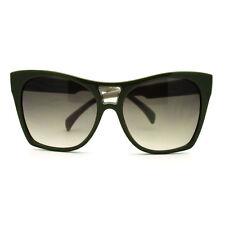 Trendy Large Coverage Oversized Cat Eye Sunglasses - Green