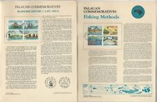 Palau Set Panel Collection, 9 Pages, Ship, Fishing, Bird, Canoes, Airplane (A)