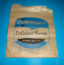 VINTAGE DOBSONS OF HUDDERSFIELD CONFECTIONERY SWEETS SHOP BAG WRAPPER CHOCOLATE