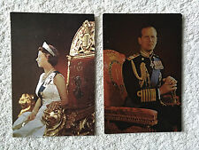 2 embossed Postcards showing the Queen and Prince Phillip from 1960's
