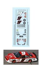 #9 Kasey Kahne Dodge Charger 2006 decal 1/64 scale Afx Autoworld Tyco Lifelike