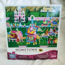 Elephant Festival Hometown Collection HERONIM 1000 Piece Jigsaw Puzzle USED