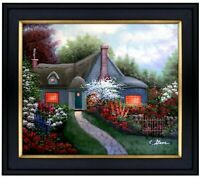 Framed Quality Hand Painted Oil Painting Flowering Cottage 20x24in