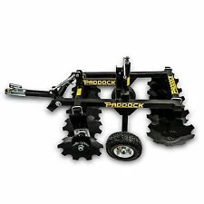 NEW~~ Tow Behind Disc Harrows for ATV Quad Bike Tractor Utility Offset Plough