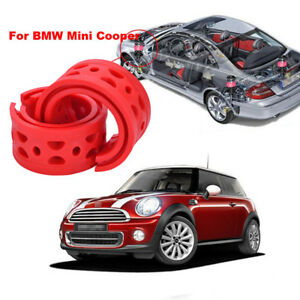 For BMW Mini Cooper Shock Absorber Spring Bumper Cushion Buffer Front C type Red