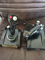 Classic Thrustmaster HOTAS Cougar Joystick & Throttle... USB