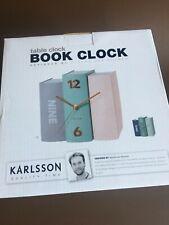 Karlsson Book Clock For Better Times Designed Sjoerd Van Heumen Open Box Unused