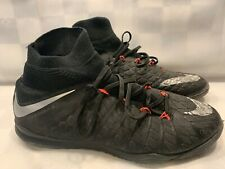 NIKE HypervenomX Proximo II DF IC Indoor Soccer Men's Size 9 Black 852577-001