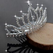 Elegant Perle Strass Diadème Mariage Cheveux crystal Peigne Accessoires Haut