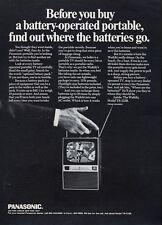 1969 Panasonic PRINT AD Portable Television TV TR-315B