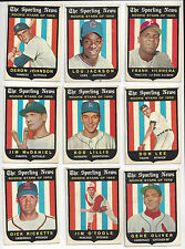 1959 Sporting News Topps Rookie Stars Lot of 24
