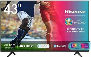 "Smart TV LED 43"" Hisense Alexa Integrata 43AE7000F Ultra HD 4K HDR 10+ Dolby DTS"