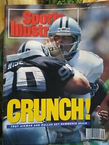 Sports Illustrated August 27 1990 Crunch! Troy Aikmen And Dallas Get Hammered...