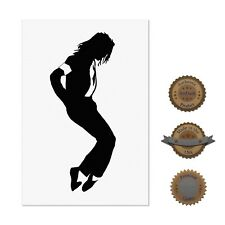 "13""×19"" Decorative Art Poster: Michael Jackson Silhouette Picture Black & White"